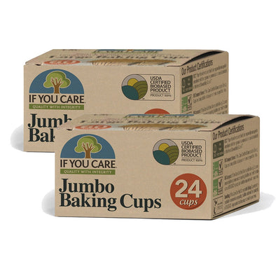 If You Care 153J25019 x2 If You Care FSC Certified Jumbo Baking Cups  2 Packs of 24