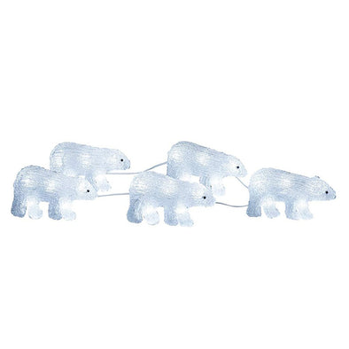 Konstsmide 6268-203EE Konstsmide 40 LED Acrylic Polar Bears  Plug In  Set of 5