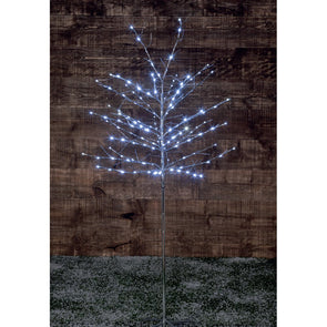 Noma 2517007 Noma Silver Twinkling Twig Tree  Plug In  150 LEDs  18m