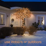 120 Micro LED Christmas Tree Lights : Copper/Orange
