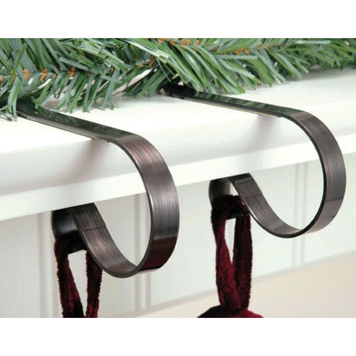 Haute Decor MC0211 Original Mantle Clip Stocking Hanger  2x Oil Rubbed Brushed Bronze