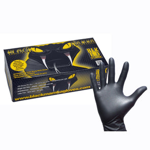 Black Mamba BM-69961 Black Mamba Nitrile Workshop Gloves  Box of 100  XXL