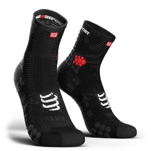 Compressport CS-27004 Compressport Pro Racing Socks V30 RUN High Cut Smart Black  T4