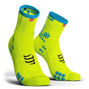 Compressport CS-270248 Compressport Pro Racing Socks V30 RUN High Cut Fluo Yellow  T4