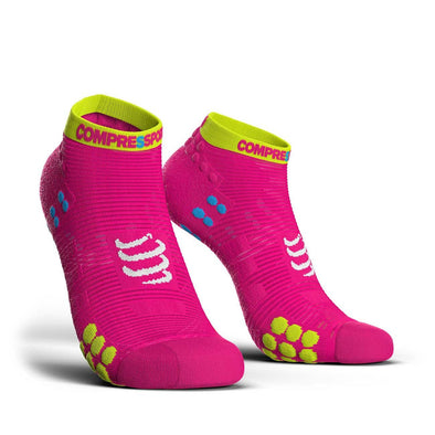 Compressport CS-27044 Compressport Pro Racing Socks V30 RUN Low Cut Fluo Pink  T4