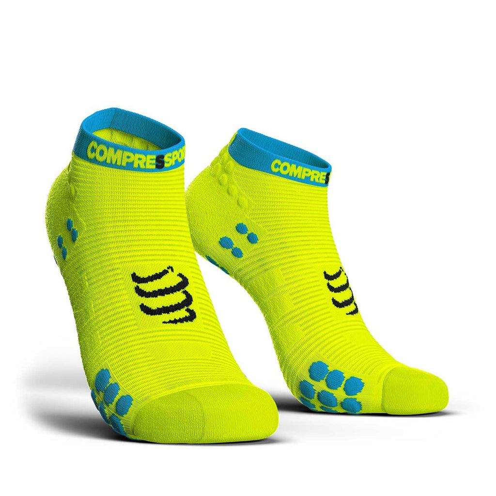 Compressport CS-27048 Compressport Pro Racing Socks V30 RUN Low Cut Fluo Yellow  T4