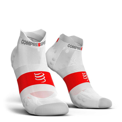 Compressport CS-27120 Compressport Pro Racing Socks V30 ULTRALIGHT RUN Low Cut  Smart White  T4