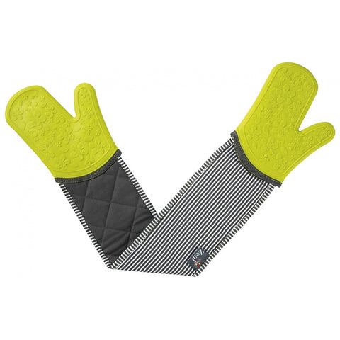 Zeal V114L Steam Stop Double Oven Glove  Stripe  Green