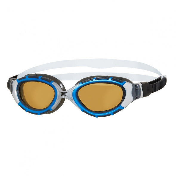 Zoggs 301928 Zoggs Predator Flex Goggles  Copper Polarised Ultra Reactor Lenses  Small