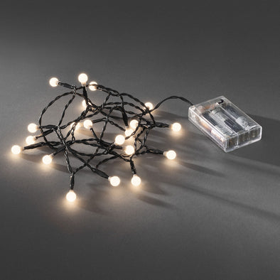 20 LED Berry Lights : Battery/Timer : Warm White