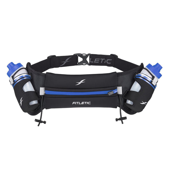 Fitletic FT-012967 Fitletic Hydra Hydration Running Belt  16oz  BlackBlue  LXL