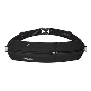 Fitletic FT-013902 Fitletic Bolt Running Pouch Waist Belt  Black