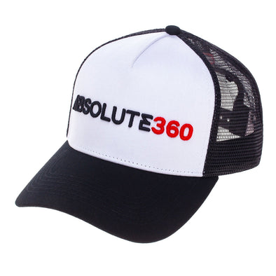 ABSOLUTE 360 44004osbw1 Absolute 360 Signature Trucker Hat  Black  White  Adjustable