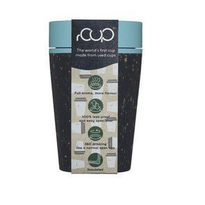 ashortwalk rCUP8oz B-T rCup 8oz Leak Proof Insulated Travel Mug  Recycled  Black  Teal
