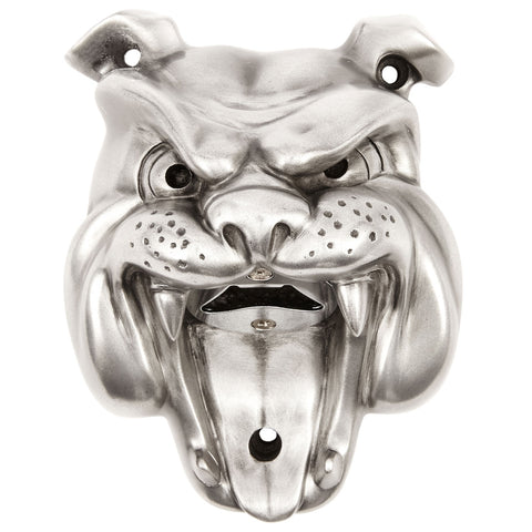 Beer Buddies BB14SIL Beer Buddies Bulldog Bottle Opener  Silver