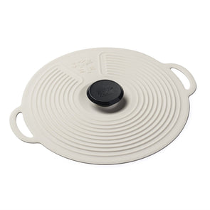 Zeal L253C Zeal Silicone Bowl  Pan Self Sealing Lid  Cream  23cm