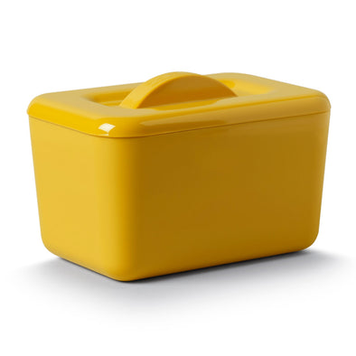 Zeal G265M Zeal Melamine Insulated Butter Dish With Lid  Mustard