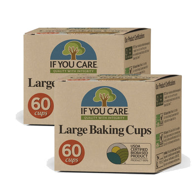 If You Care 153J25010 x2 If You Care FSC Certified Large Baking Cups  2 Packs of 60