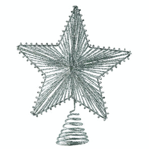 Festive Productions 124039 Star Christmas Tree Topper with Gold Glitter 20cm