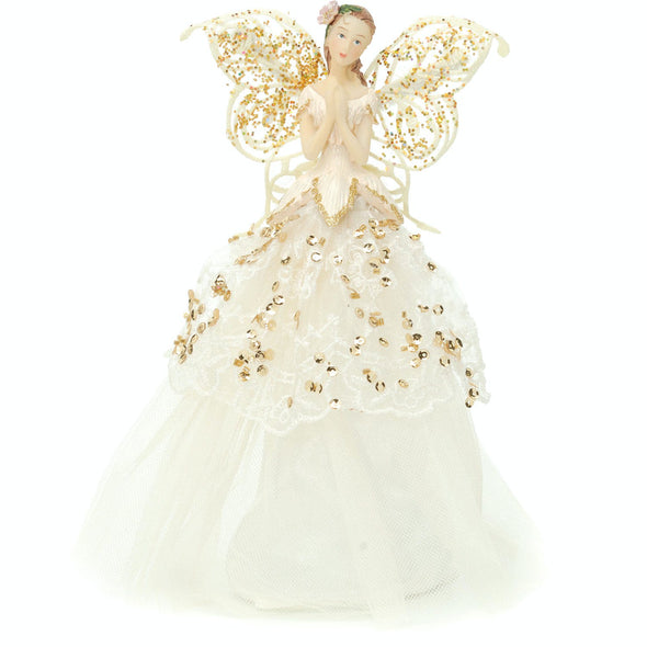Christmas Tree Topper : 23cm : Gold & Cream Angel