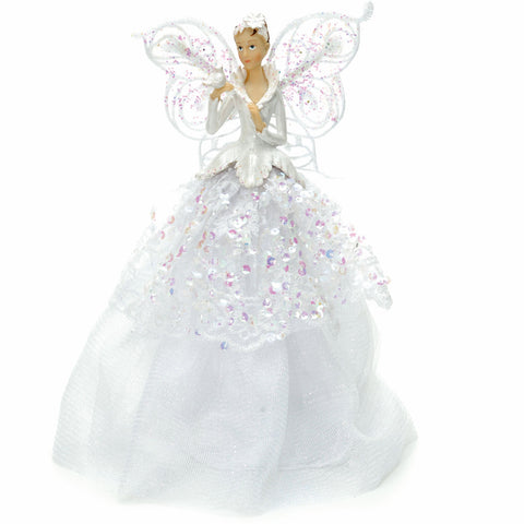 Festive Productions 229222 Angel Tree Topper  White  23cm