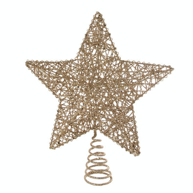 Festive Productions P004123 Star Christmas Tree Topper With Gold Glitter