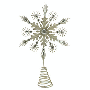 Festive Productions P007445 Ornate Star Christmas Tree Topper Champagne Gold