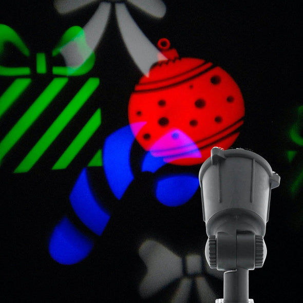 Festive Productions P014301 Christmas Animated LED Projector  Multicoloured Christmas Shapes
