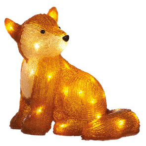 Festive Productions P014612 LED Acrylic Sitting Fox  31cm