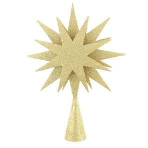 Festive Productions P023420 Christmas Tree Topper  26cm  Gold Glitter Octastar Star