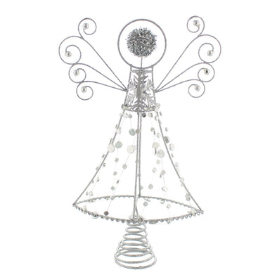 Festive Productions P024207 Tree Topper  Silver Glitter Abstract Angel