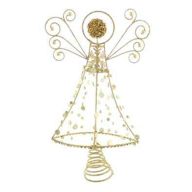 Festive Productions P024208 Tree Topper  Gold Glitter Abstract Angel