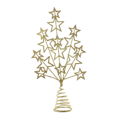 Festive Productions P025575 Christmas Tree Topper  16cm  Gold Glitter Star Burst