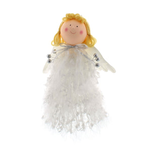 Festive Productions P026420 Christmas Tree Topper  25cm  Cute Angel In White