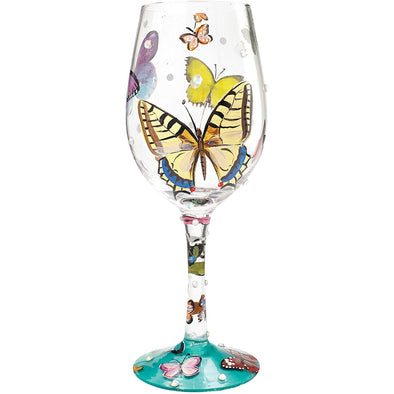 Lolita 4056858 Butterflies Wishes Wine Glass