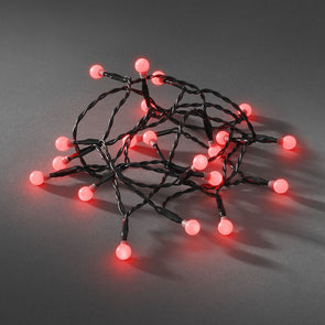 50 LED Berry Lights : Battery/Timer : Red
