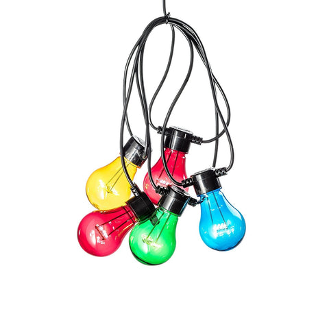 LED Festoon Lights With 20 Clear Bulbs : Multicoloured