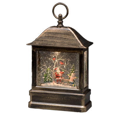 Konstsmide 2886-000EE Konstsmide Water Filled LED Lantern  BatteryPlug In  Timer  Santa  Child
