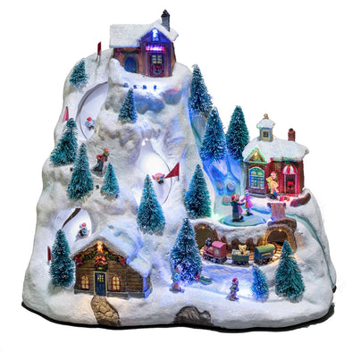 Konstsmide 3403-000 Animated Musical Christmas Scene  Mains Or Battery  Ski Mountain