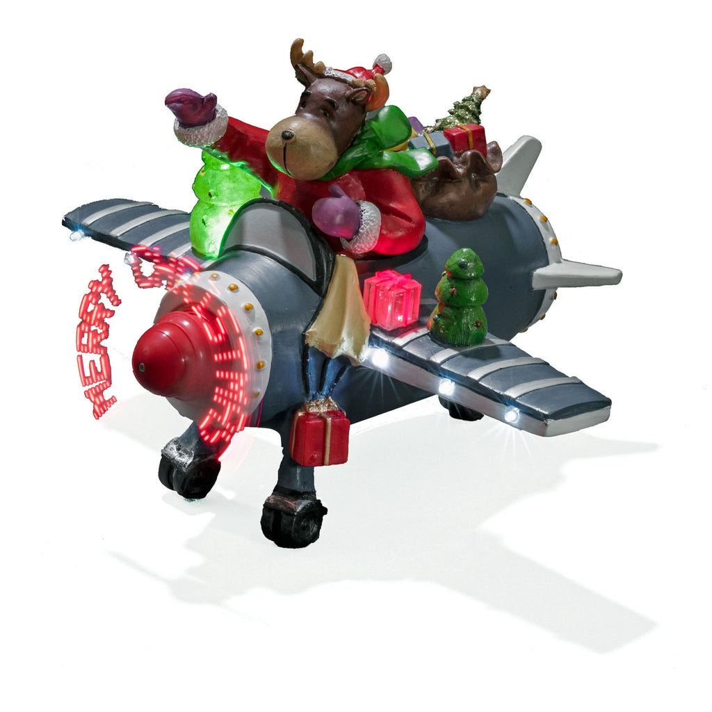 Konstsmide 3436-000 Aeroplane With LED Christmas Message Propellor