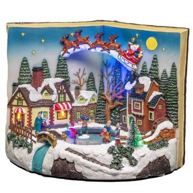 Konstsmide 4218-000EE Konstsmide LED Christmas Scene  Mains or Battery  Book with Moving Children
