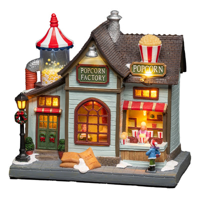Konstsmide 4219-000EE Konstsmide LED Musical Christmas Scene  Mains or Battery  Popcorn House