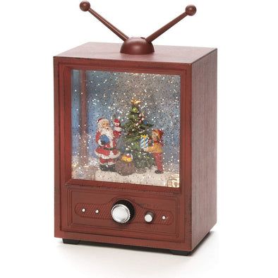 Konstsmide 4372-000EE Water Filled LED Lantern  Dual Power Mains Or Battery  Musical  Santa TV