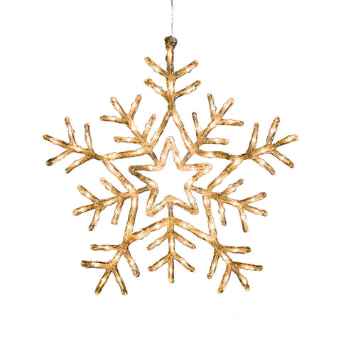 Konstsmide 4470-103 Large Snowflake  90 Warm White LEDs