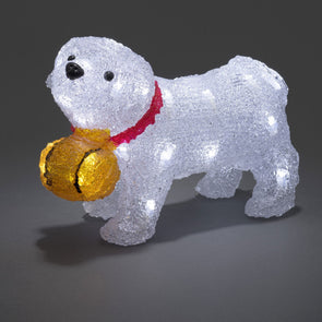 32 LED Acylic St Bernard Dog : Battery/Timer