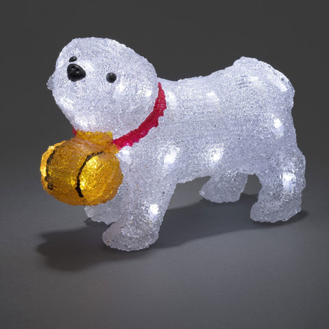 Konstsmide Acrylic St Bernard Dog : Battery Operated with TIMER : 32 LED : indoor/outdoor : 6130-203