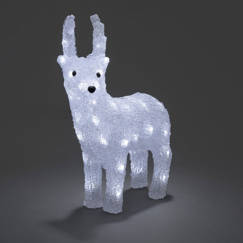 32 LED Acrylic Reindeer : Battery/Timer