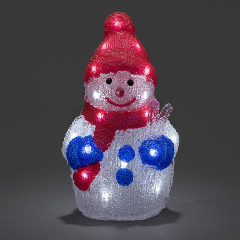 24 LED Acrylic Snowman : Battery/Timer