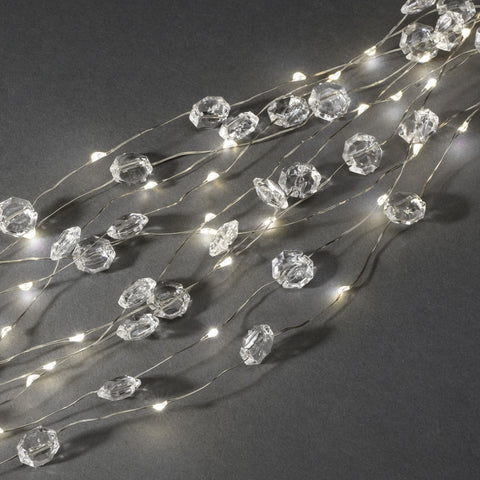 Konstsmide 6393-190 26 Strings Of Mini Diamonds On Silver Wire  702 LEDs