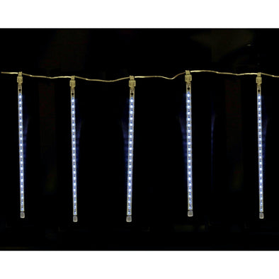 Jingles YLW-9901 Snowfall Light Tubes  Plug In  Connectable  Set of 5  95 LED